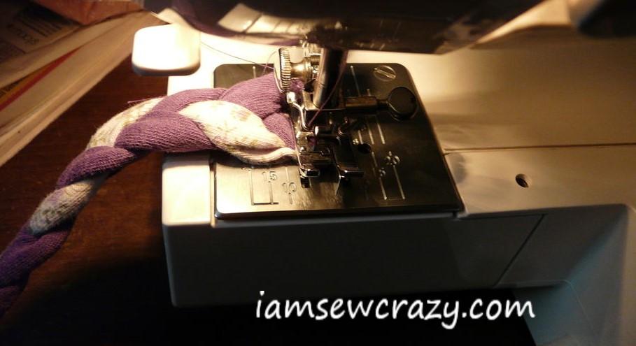 sewing a headband
