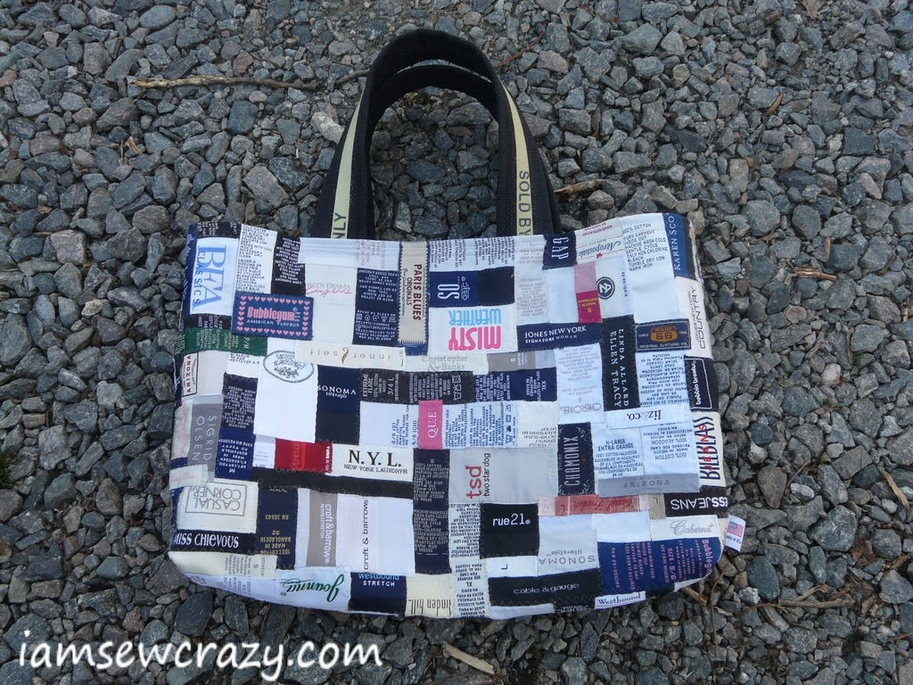 Sewing tutorial: Clothing label tote bag