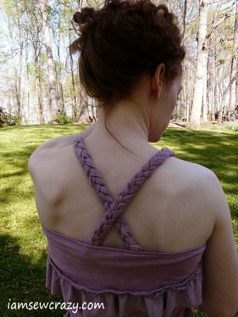 criss-cross braided straps