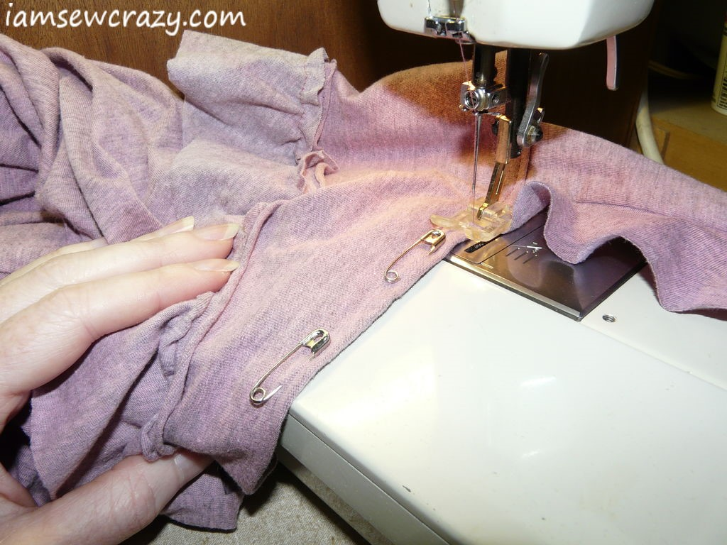sewing on the straps