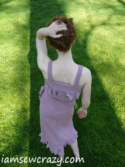the back of the dress