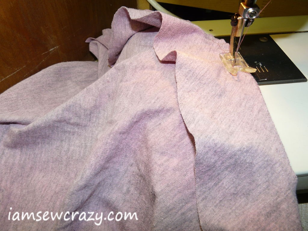 sewing on the flounce