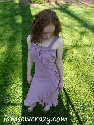 purple dress finished and ready to wear!