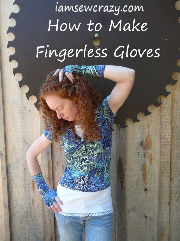 How to make fingerless gloves