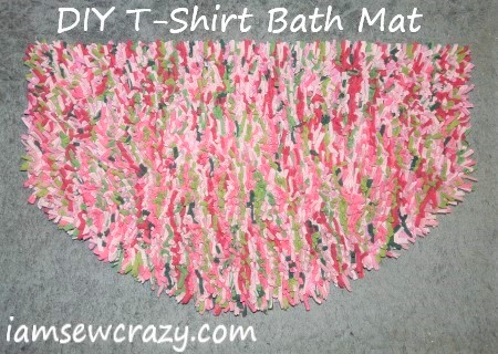 DIY bath mat from t-shirts