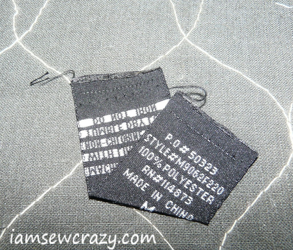 embroidered tag