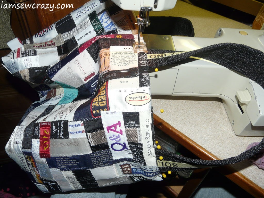 topstitching a tote bag