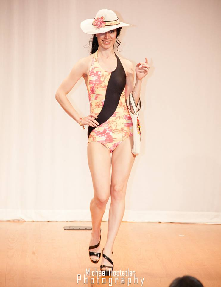 fashion show swimsuit