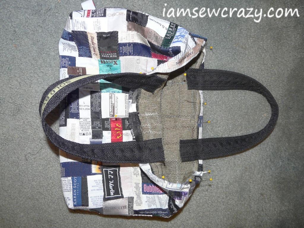 adding handles to tote bag