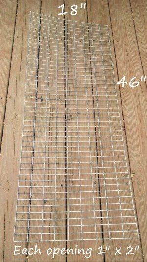 welded wire for DIY thread rack