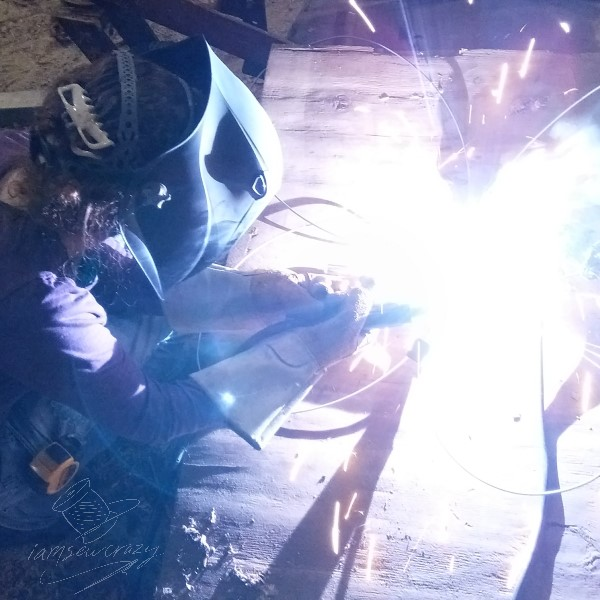 welding butterfly wings