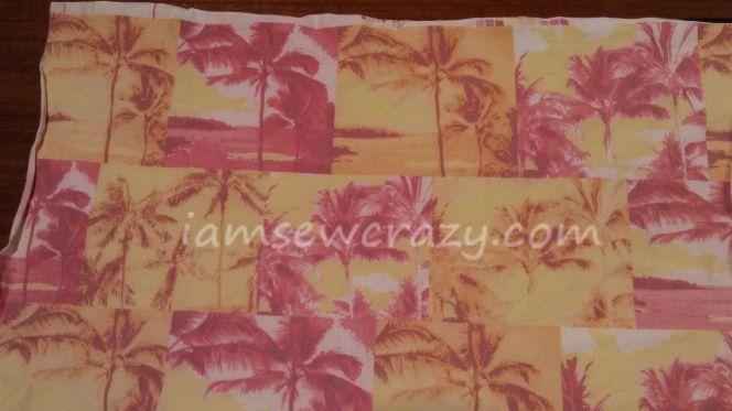 palm tree swimsuit fabric