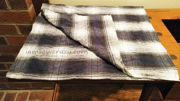 flannel fabric to make an ironing pad