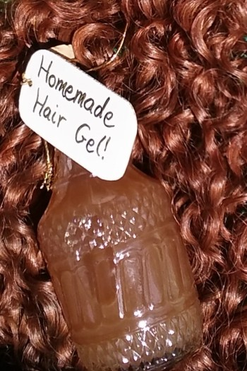 Homemade Hair Gel for curly hair