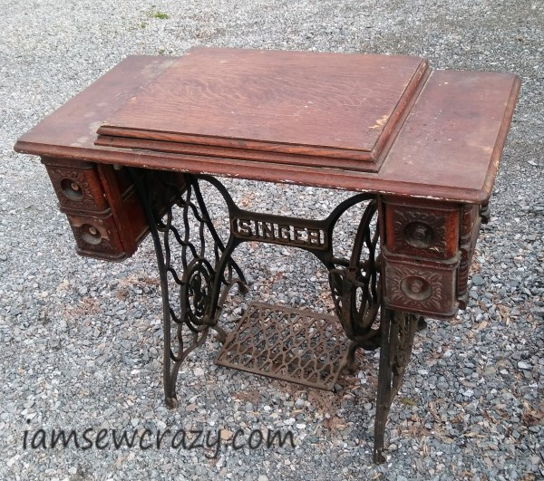 Antique treadle table