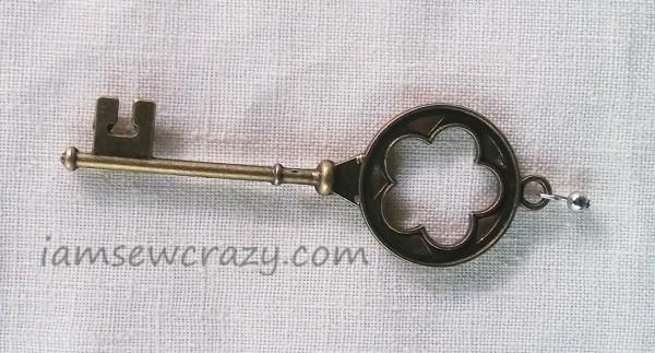 attaching a ball chain to a key