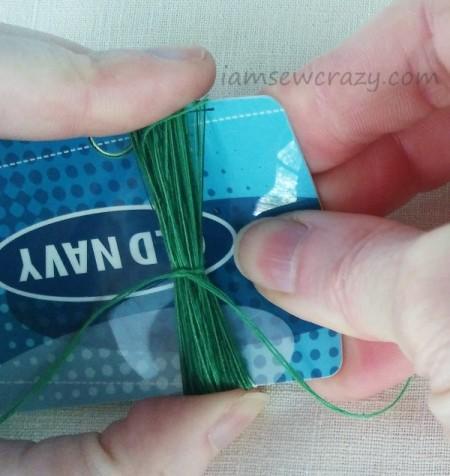 sliding thread bundle off credit card