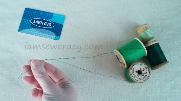 unwinding sewing threads