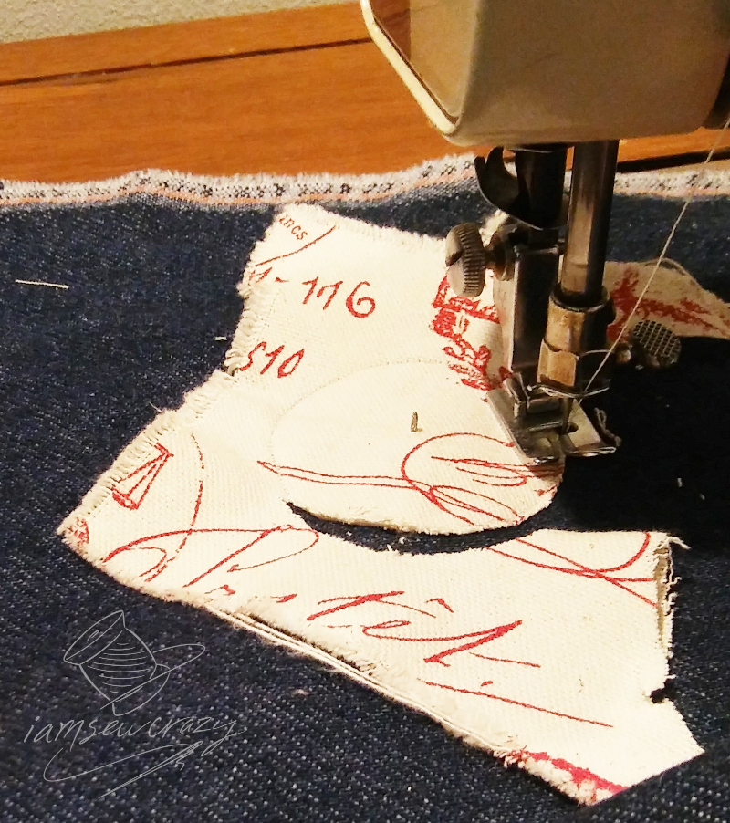 sewing a circular applique
