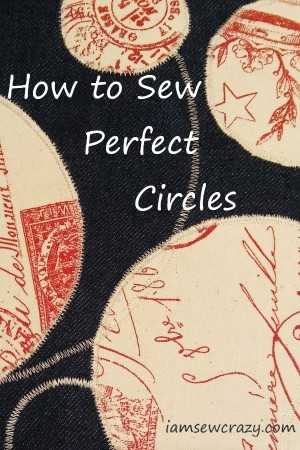 circles sewn on fabric with text overlay: how to sew perfect circles