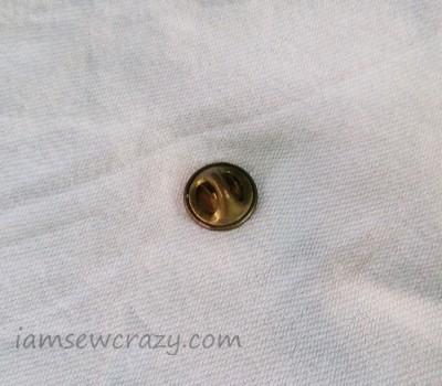 lapel pin in fabric