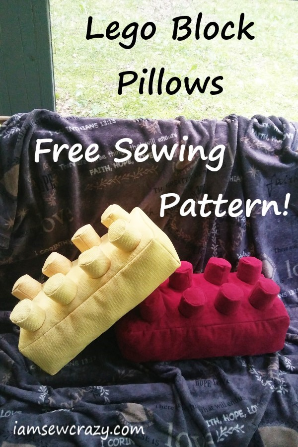 Free Sewing Pattern to make Lego Block Pillows