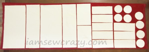 pattern layout for sewing a pillow