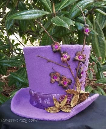 purple felt top hat
