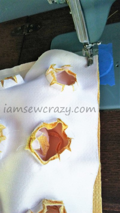 sewing top panel to sides