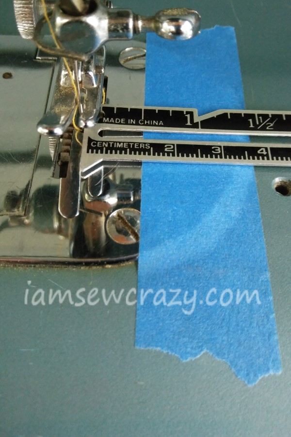 using tape as a seam guide