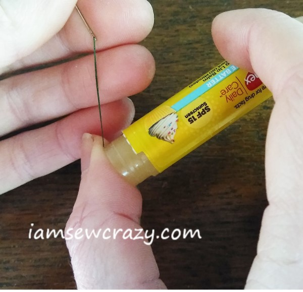 waxing thread with lip balm