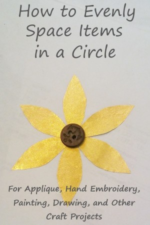 gold foil flower petals on paper with text overlay: how to evenly space items in a circle