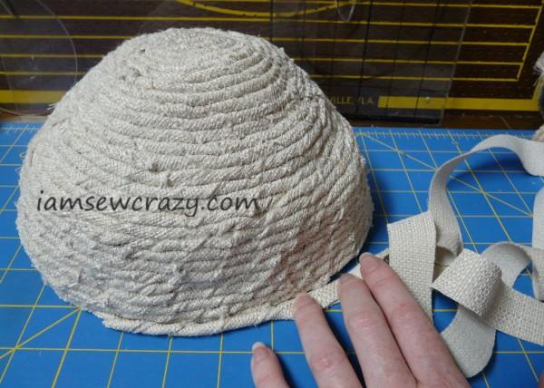 making the hat brim