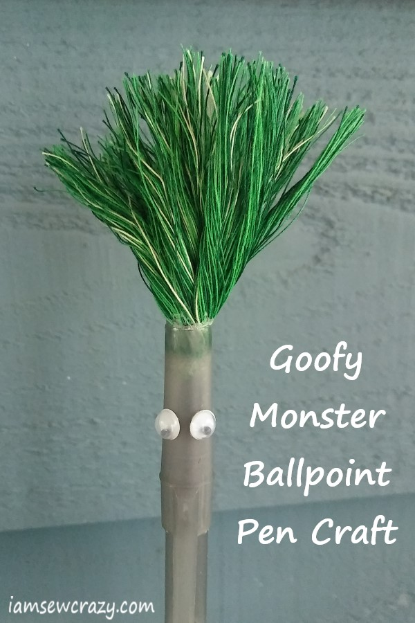 ballpoint pen topper kids craft