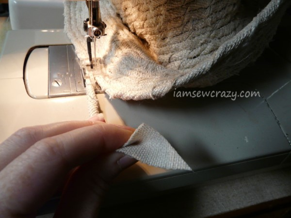 sewing the hat brim