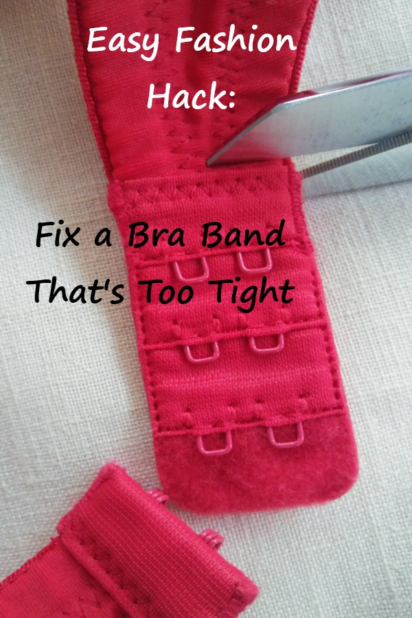 how to fix a bra band that's too tight