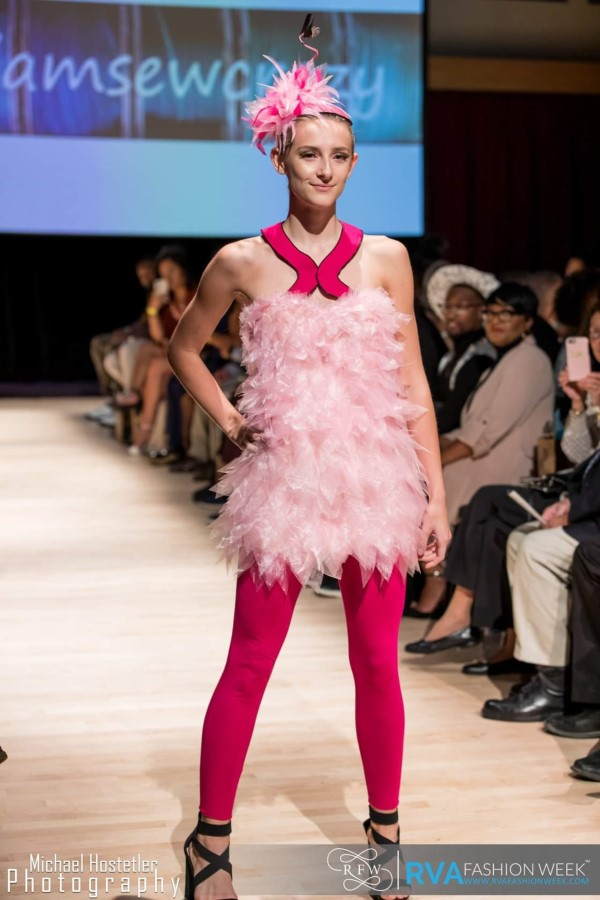 flamingo costume with frilly feathers