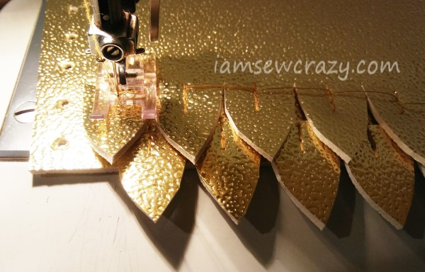 sewing vinyl dragon scales for cosplay