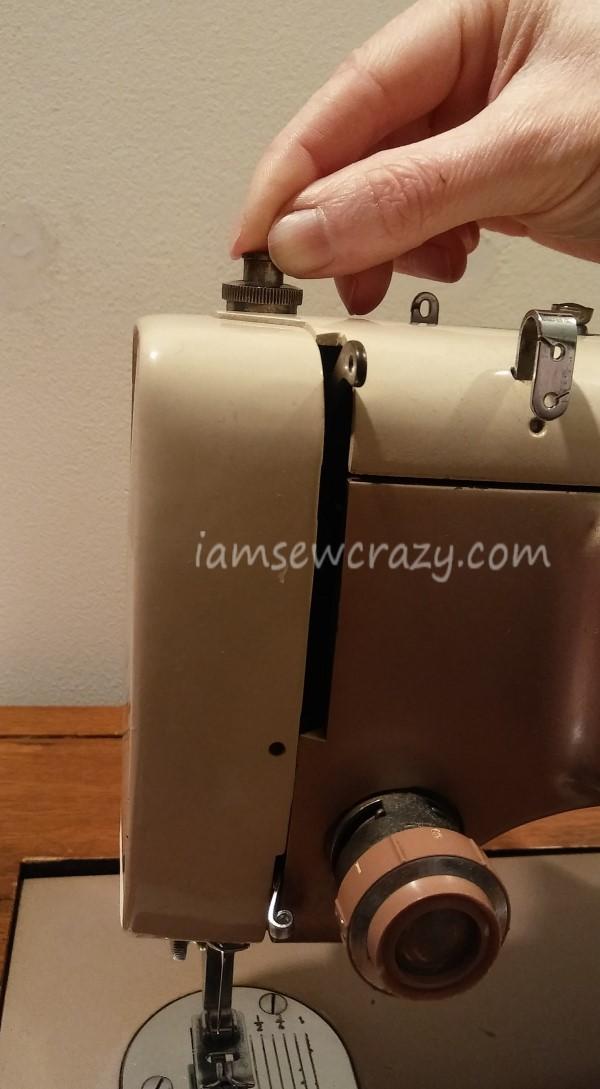 adjusting presser foot pressure vintage kenmore sewing machine