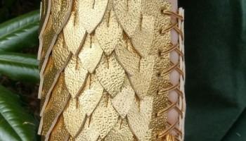 gold dragon scale arm cuff tutorial