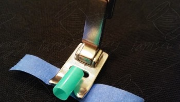 adding drinking straw to presser foot