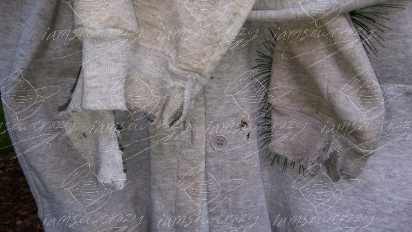 closeup of worn out cuffs