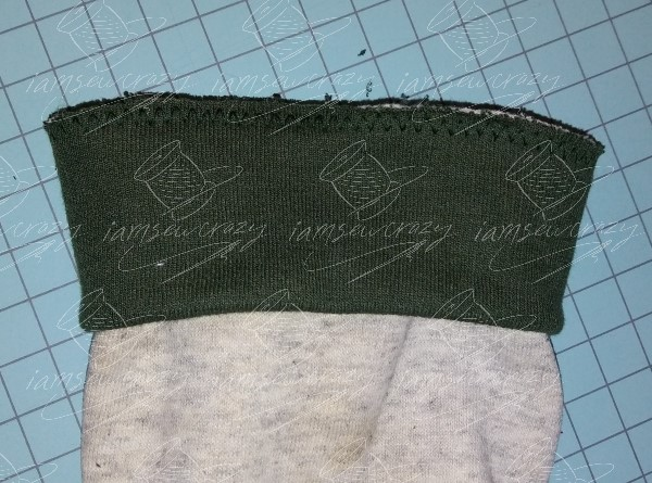 cuff sewn to sleeve
