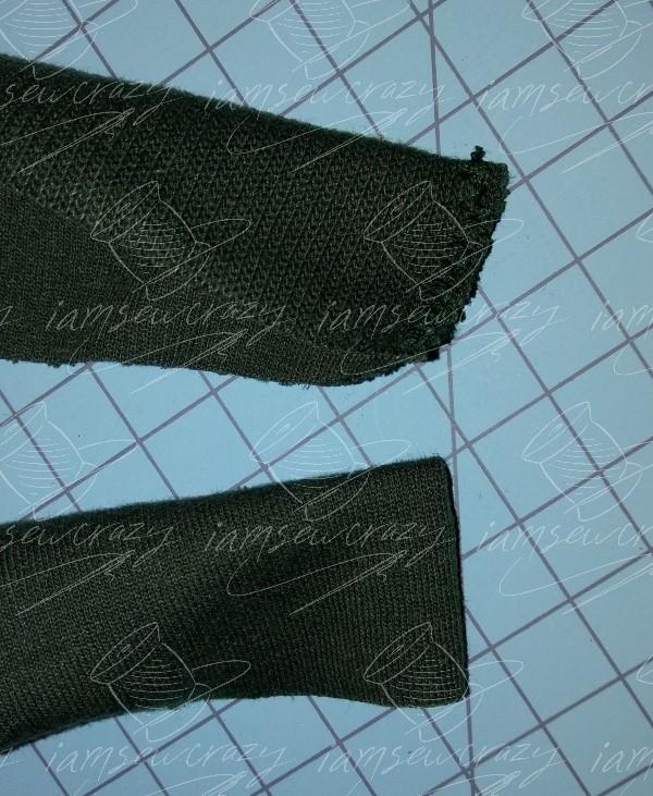 edges of neckband finished