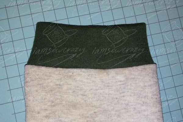 adding a new contrasting cuff on sweatshirt