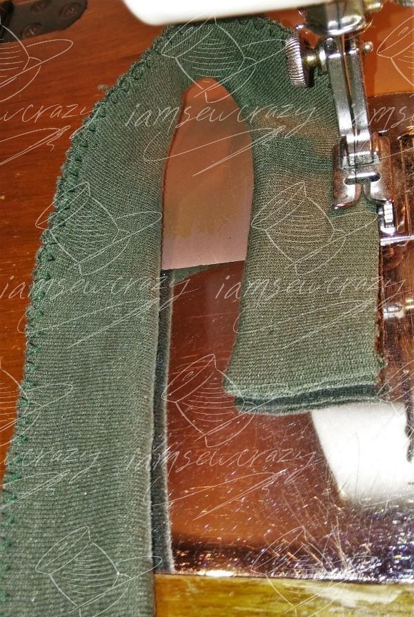 finishing edge of neckband