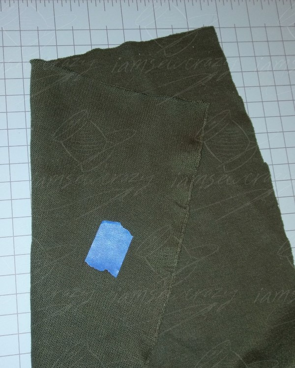 marking wrong side of knit fabric