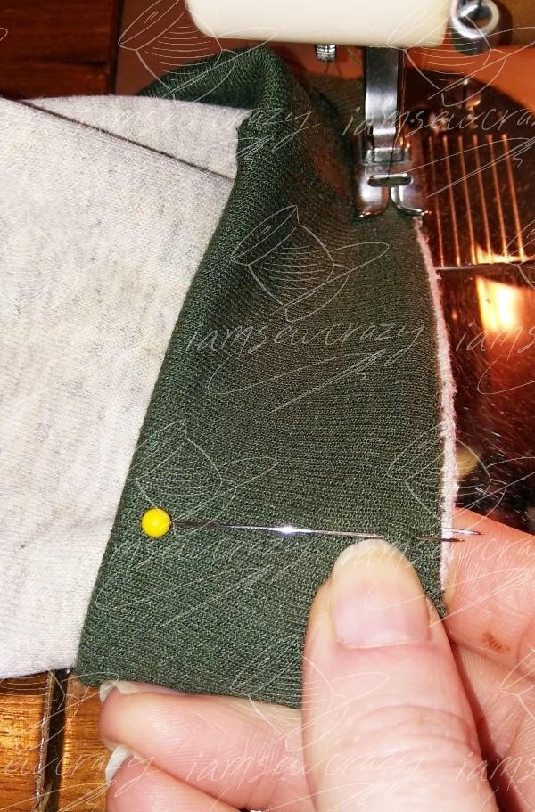 sewing cuff to sweatshirt sleeve