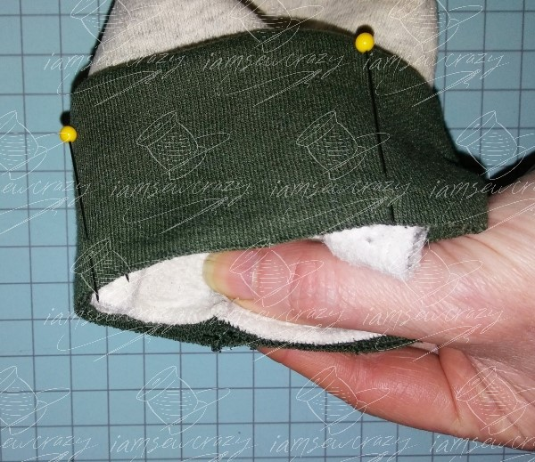 sleeve lined up inside cuff