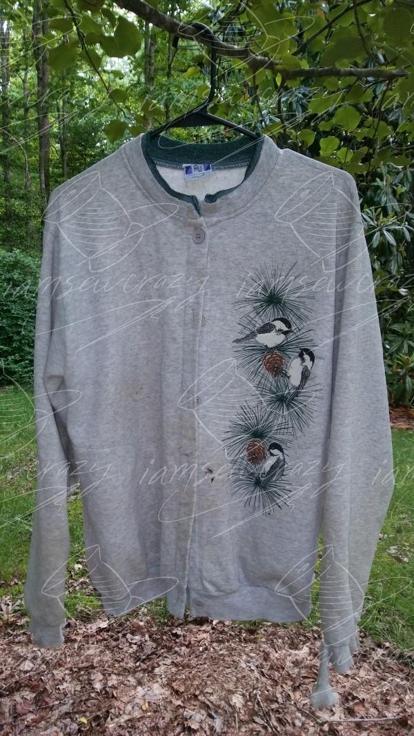 sweatshirt with worn out cuffs